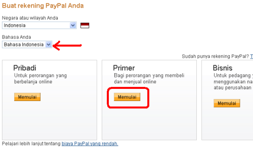 Daftar Paypal